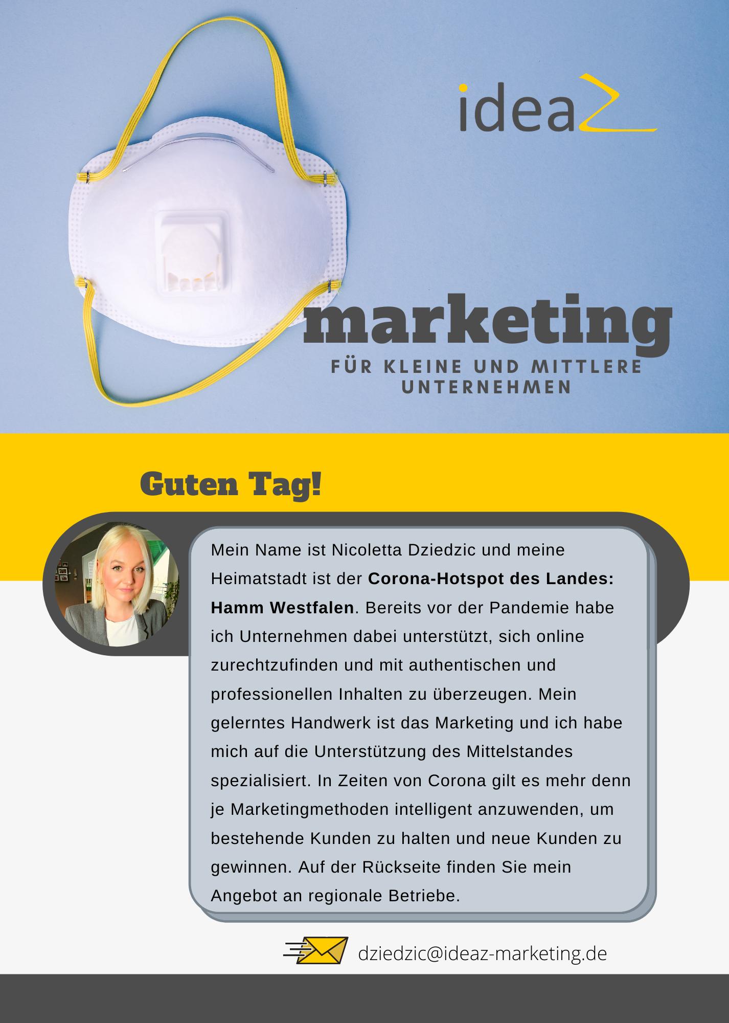 Corona Angebot Marketing für Unternehmen NRW