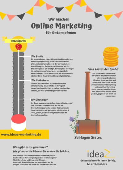 Online Marketing Leistungen Hamm ideaz